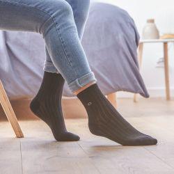 Cotton socks Lace Black