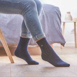 Cotton socks Lace Blue