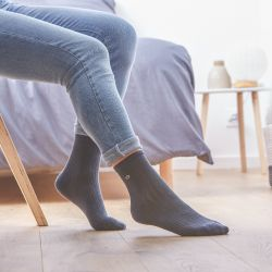 Cotton socks Lace Grey