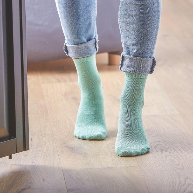Chaussettes coton Paillettes Vert D'eau