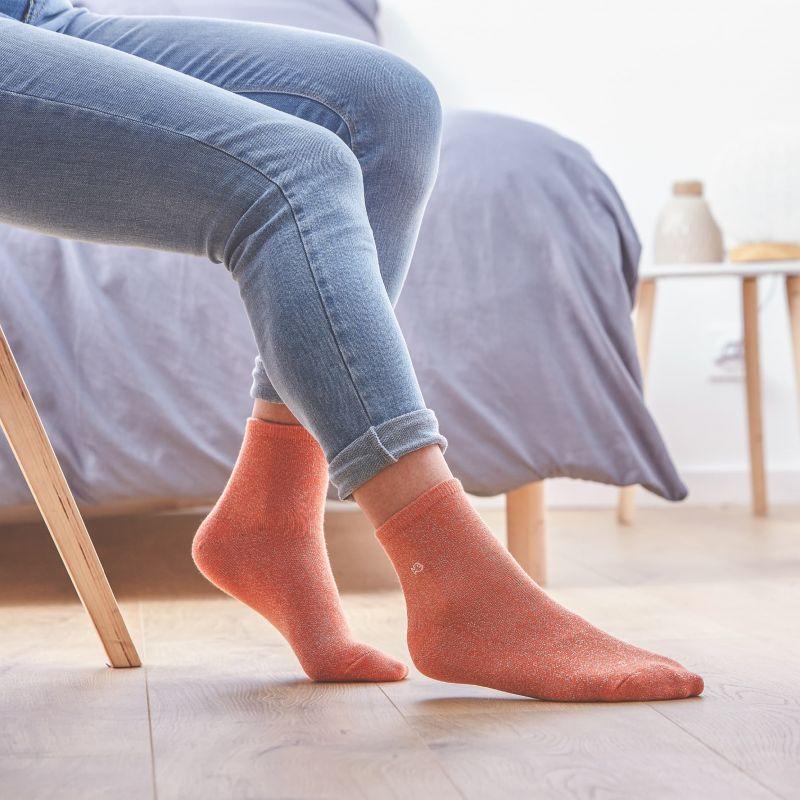 Socks cotton Glitter Coral