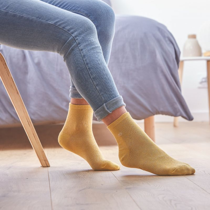 Socks cotton Glitter Yellow