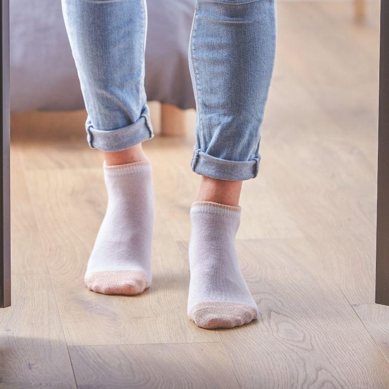 Coton ankle socks Copper White