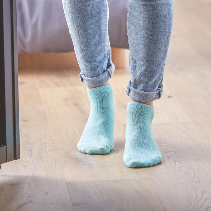 Socquettes coton Vert D'eau