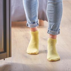 Coton ankle socks Pale Yellow