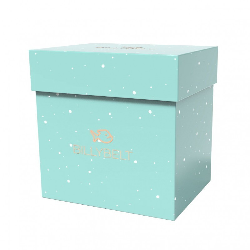 Light blue spotted box