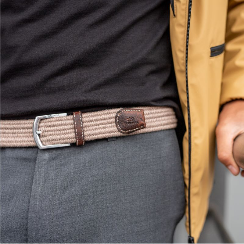 Elastic woven belt  The Club Beige