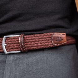 Elastic woven belt  The Club Burgundy