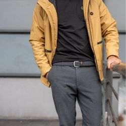 Elastic woven belt  The Club Grey
