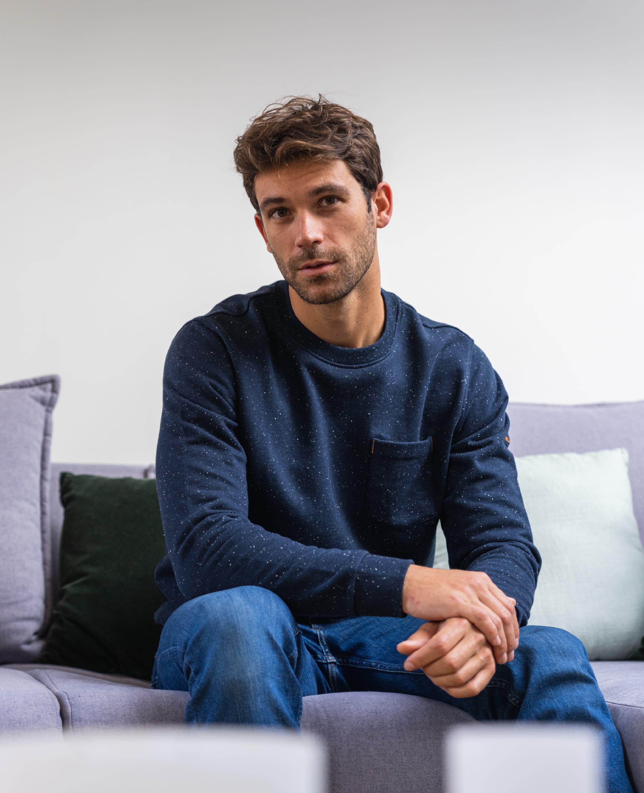 sweatshirt for men blue and comfortable